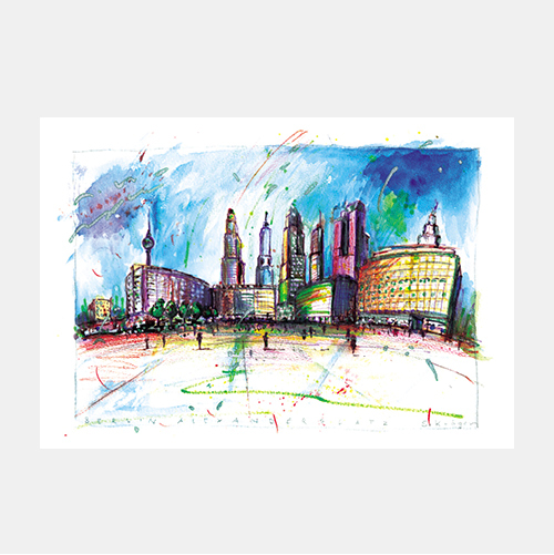 Alexanderplatz, Architektur-Illustrationen